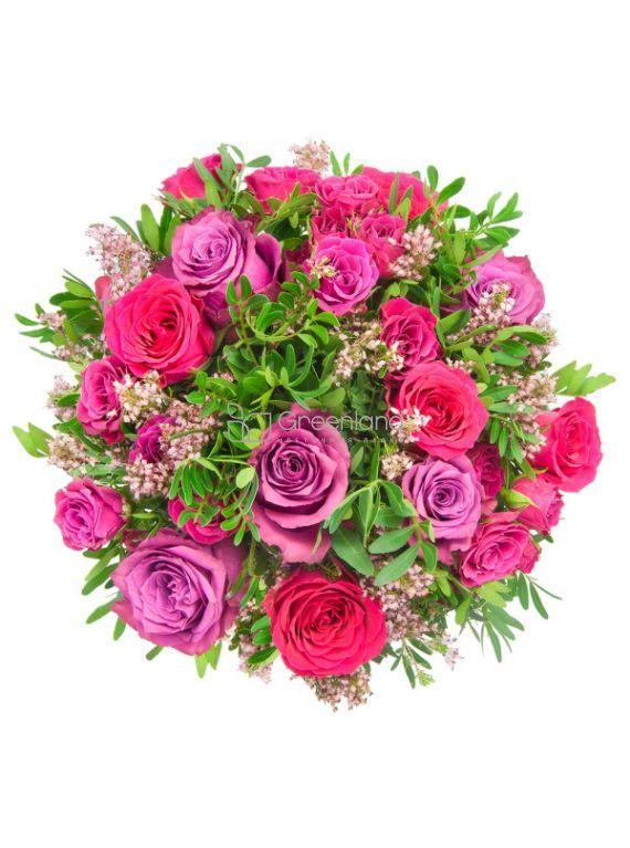 №1 Букет из одноголовых и спрей-роз