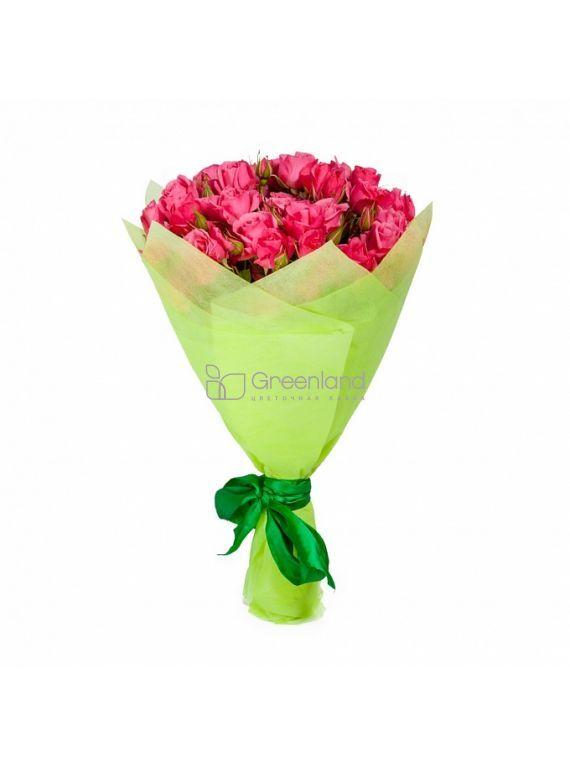 №201 35 pink spray roses flower bouquet