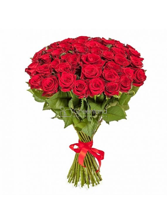 №53 51 red roses flower bouquet (size M)