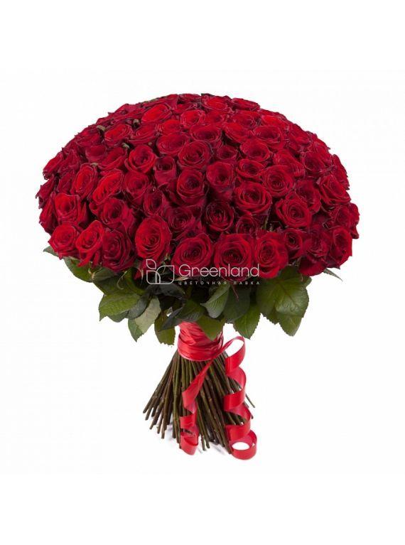 №50 Букет из 101 красной розы L (Кения)