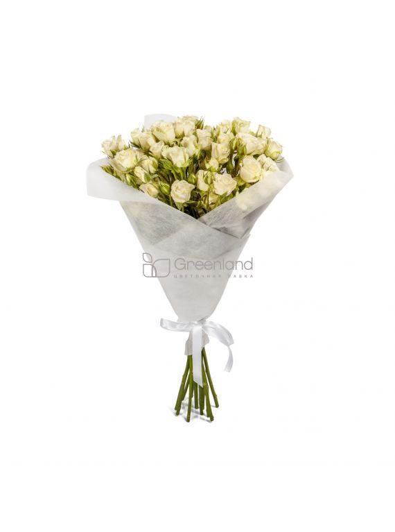 №211 Букет микс из 25 белых спрей роз