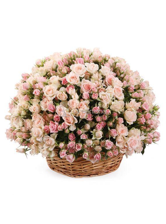 №251 Корзина из 101 спрей розы