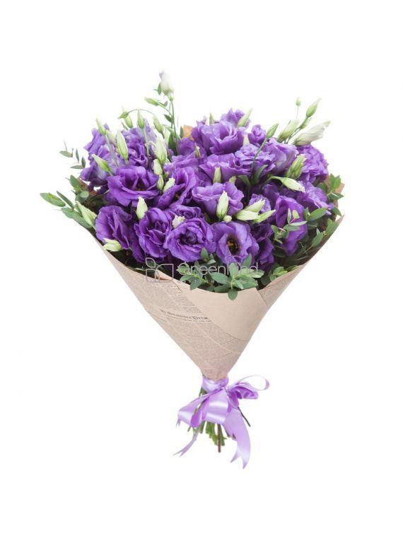 №240 13 purple lusiantus flowers bouquet