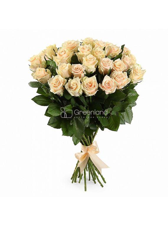 №364 Букет из 25 кремовых роз S
