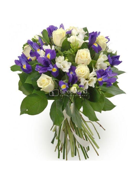 №18 Букет их фрезий, ирисов и роз [CLONE]
