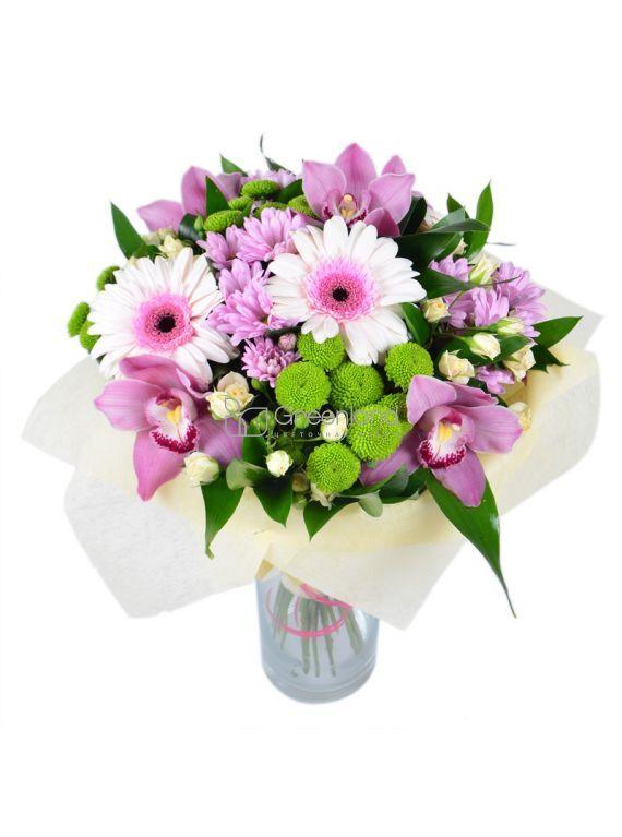 № 501 микс букет из орхидеи ,гербер и хризантемы