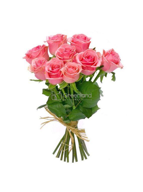 № 371 Букет из 9 розовых роз М