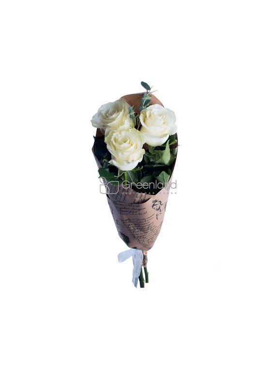 №370 Букет из 3 белых роз M