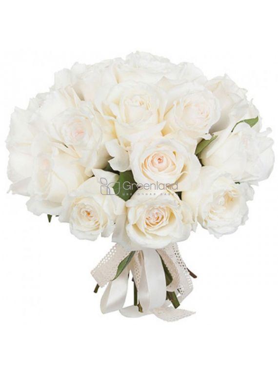№450 15 white garden roses flower bouquet