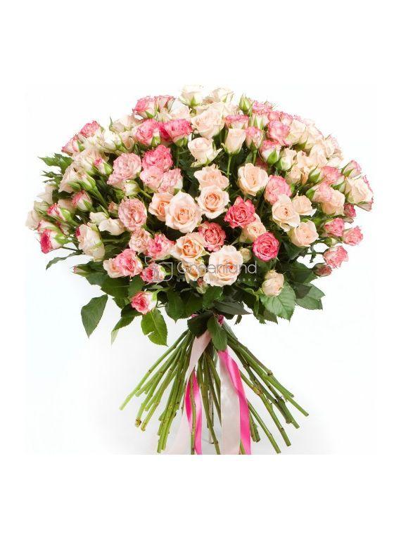 №330 Bouquet of Peony Spray Roses