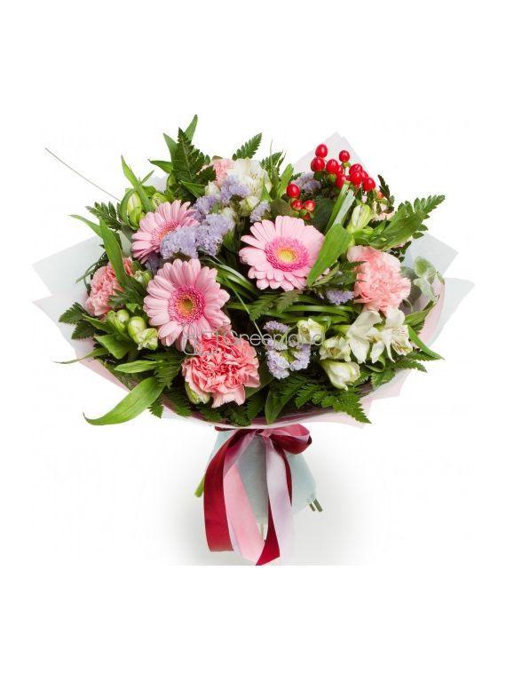 №333  Bouquet of gerberas and alstroemerias
