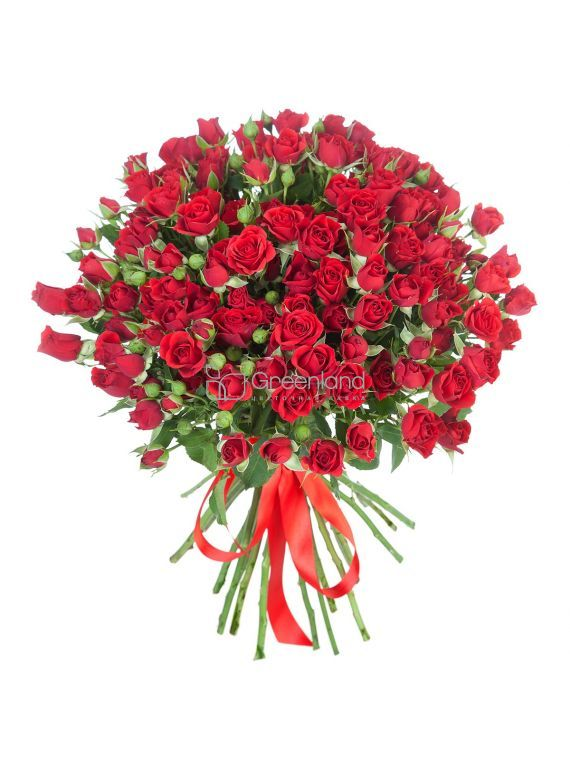 №78 25 sprey roses red roses bouquet