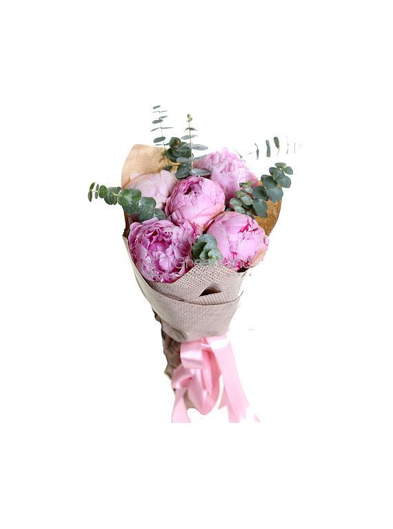 №24/5  pink peonies, and eucalyptus of bouquet