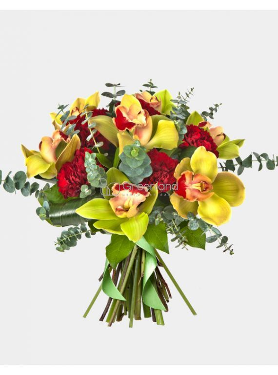 №336  bouquet of orchids and cloves